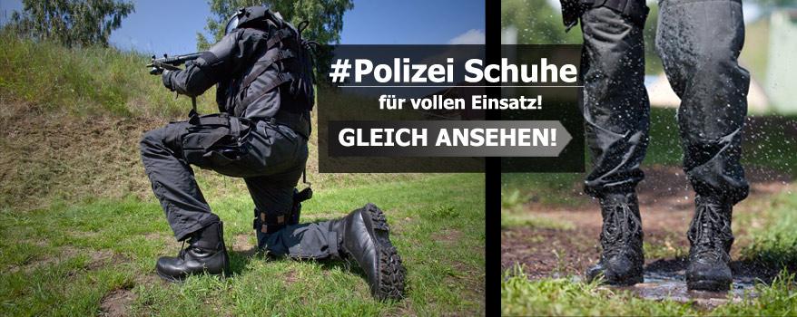 Polizei Schuhe